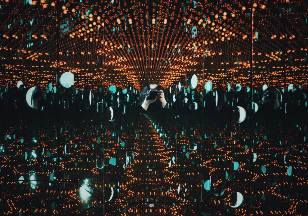 inside an exhibition at The Broad